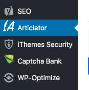 Articlator menu icon onWordPress Admin